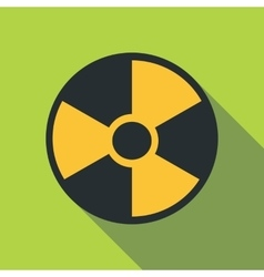 Radiation icon flat style vector image