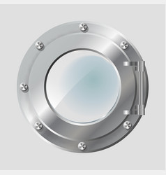 Realistic metal porthole of vector