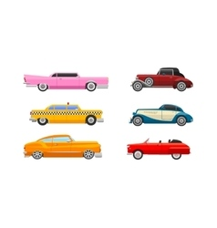 Retro car vehicle vector image