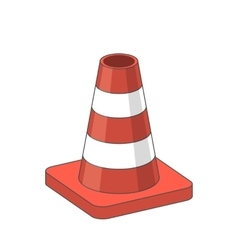 Road Traffic plastic Cone vector image