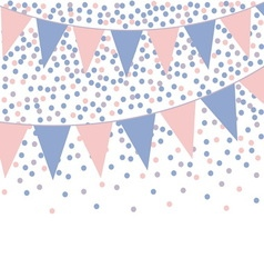 Rose quartz and serenity bunting background with vector