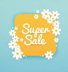 Sale Banner with flowers Sale Poster Sale Flyer vector