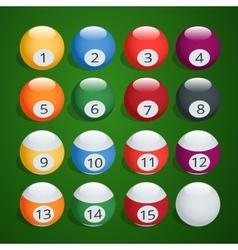 Set of billiard balls Complete Billiard Balls vector