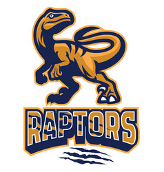 Set of raptor mascot vector
