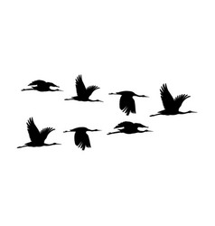 silhouette or shadow black ink symbol flock vector image