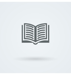 Simple open book icon vector image