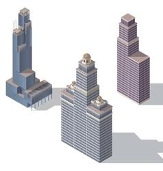 skyscraper set 2 vector image