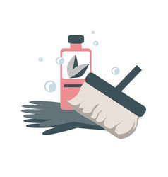 Spring home cleaning concept icon vector