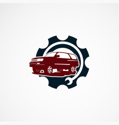 Suv car repair service logo designs concept icon vector