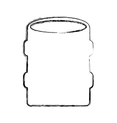 Tank oil isolated icon vector