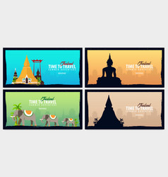 thailand time to travel set of banners vector image