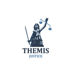 the goddess of justice themis vector image