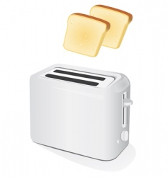 toaster with toast vector image