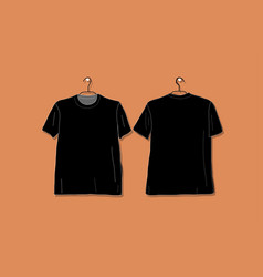 Tshirt black mockup for your design vector