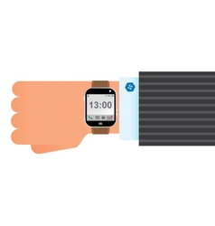 Wristwatch smart clock vector