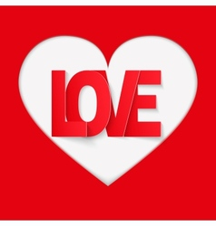 Background Red Letter Love vector image vector image