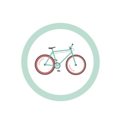 Bicycle cycling road sign vector image