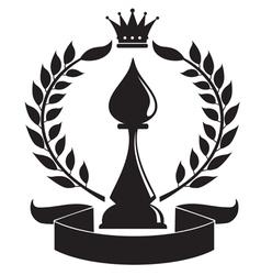 chess bishop vector image