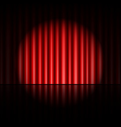 Curtain of red background vector