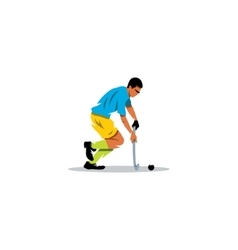 Field Hockey player sign vector image vector image