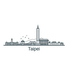 outline taipei banner vector image vector image