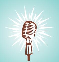 retro microphone symbol vector image