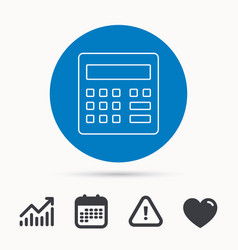 calculator icon accounting sign vector image