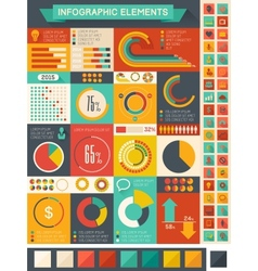 Flat Infographic Elements vector image