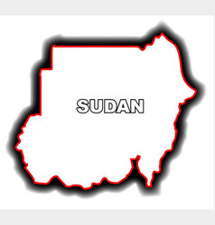 outline map of sudan vector image