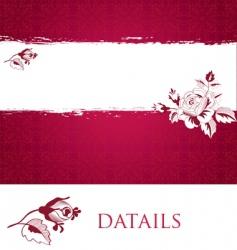 romantic roses vector image