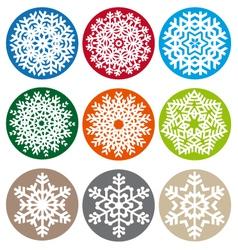 Xmas snowflake set vector image