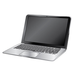 black laptop vector image