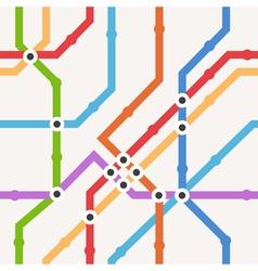 Color metro scheme seamless background vector image vector image