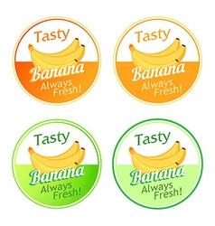 Emblem with Bananas vector image vector image