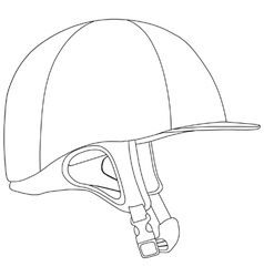Horse riding helmet vector image vector image