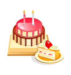 icon cake vector image