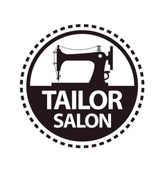 tailor salon dressmaker atelier or shop vector image vector image