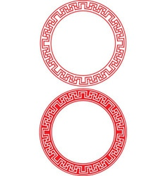 Chinese Circle Ornament vector image vector image
