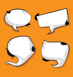 abstract speech bubbles set white cow texture vector image
