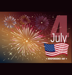American independence day fourth of july vector