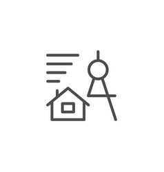 architecture line icon vector image