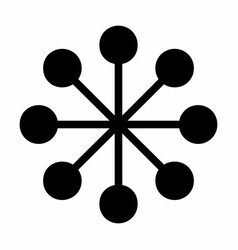 Balloon-spoked asterisk icon vector