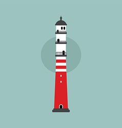 beach lighthouse flat vector image
