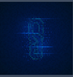 binary chain vector image