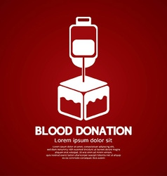 Blood donation graphic vector