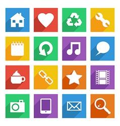 Bright social media icons vector