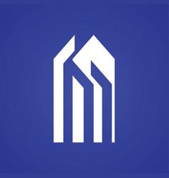 Building letter m logo vector