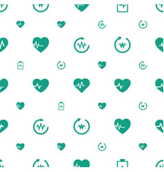 Cardio icons pattern seamless white background vector