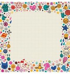 cartoon doodle border vector image