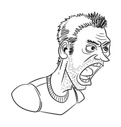 cartoon image of shouting man vector image